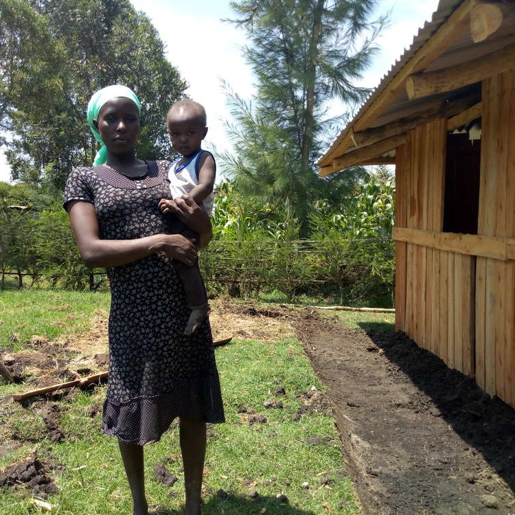 Give Directly foundation - Jesca and child
