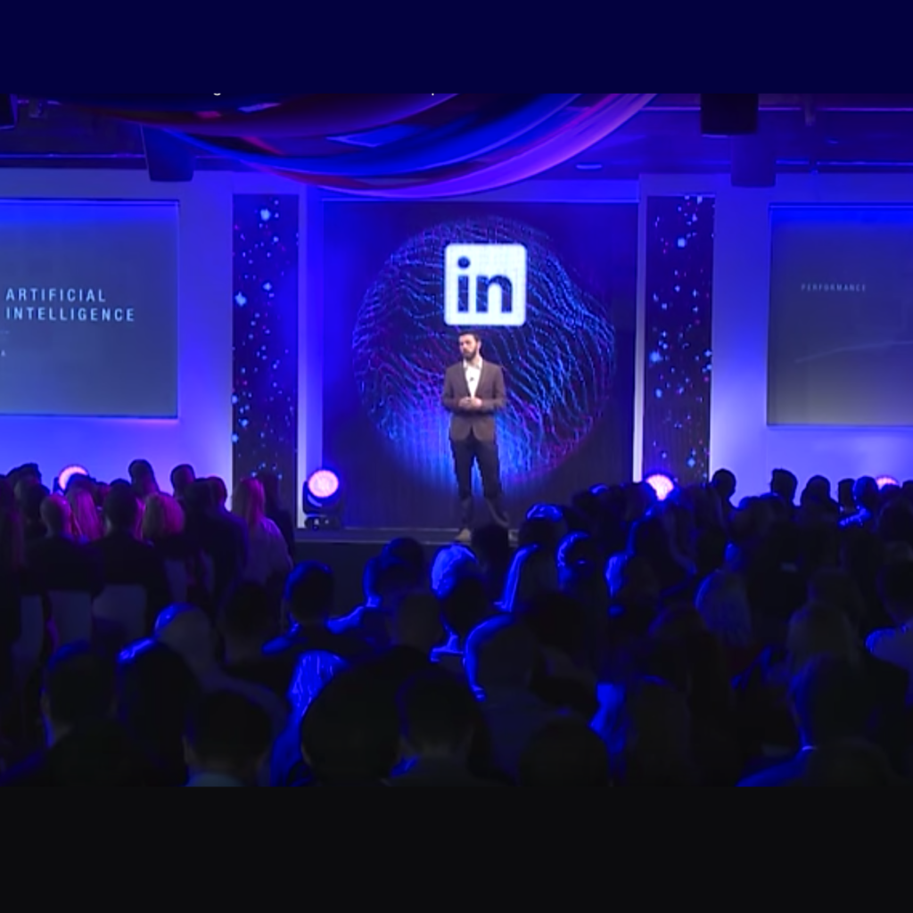 John Jersin giving the keynote address at LinkedIn's Talent Intelligence event